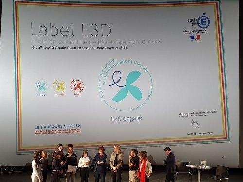 Remise du Label E3D