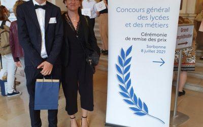 Concours Général des Lycées et des Métiers 2021: 3ème place pour William Klomp