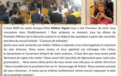 Rencontre avec Hélène Vignal !